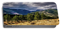 Portable Battery Charger featuring the photograph Purple Mountains by James L Bartlett