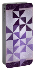 Purple Pinwheels Pirouetting Portable Battery Charger
