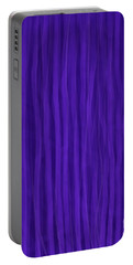 Purple Stripes Portable Battery Charger