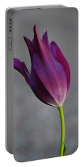Purple Tulip Portable Battery Charger