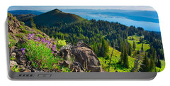 Portable Battery Charger featuring the photograph Purple Vista by Tom Gresham