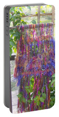 Purple Weaving Portable Battery Charger