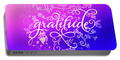 Purply Pink Gratitude Portable Battery Charger