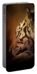 Portable Battery Charger featuring the painting Quiet Time - Wildlife Art by Jordan Blackstone