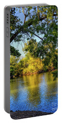 Portable Battery Charger featuring the photograph Quite Idaho Evening On The Boise River by Jon Burch Photography