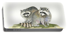 Raccoon Friendship Portable Battery Charger