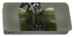 Raccoon Puzzler And Mastermind Portable Battery Charger