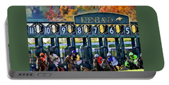 Fall Racing At Keeneland  Portable Battery Charger