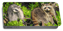 Raccoons In The Mangroves Portable Battery Charger
