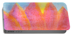 Portable Battery Charger featuring the painting Radiance Mountain Abstract by Dobrotsvet Art
