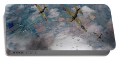 Raf Spitfires Swoop On Heinkels In Battle Of Britain Portable Battery Charger
