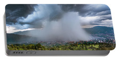 Rain Storm Over Medellin Portable Battery Charger
