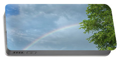Rainbow And A Tree Portable Battery Charger