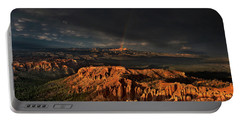 Rainbow And Thunderstorm Over The Paunsaugunt Plateau  Portable Battery Charger