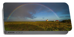 Rainbow At Point Cabrillo Portable Battery Charger
