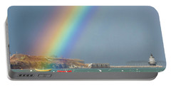 Rainbow At Spring Point Ledge Portable Battery Charger