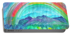 Portable Battery Charger featuring the painting Rainbow by Dobrotsvet Art