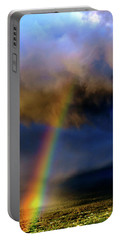 Rainbow During Sunset Portable Battery Charger
