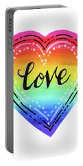 Rainbow Heart Love Portable Battery Charger