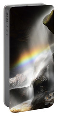 Rainbow In Broken Rock Falls Portable Battery Charger