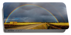 Rainbow Over Crop Land Portable Battery Charger