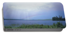 Rainbow Over Raquette Lake Portable Battery Charger