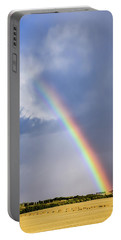 Portable Battery Charger featuring the photograph Rainbow Over The Crop by Philip Rispin