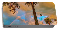 Rainbow Over The Palms Portable Battery Charger