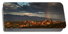Rainbow Over Tucson Portable Battery Charger