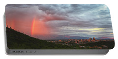 Rainbow Over Tucson Skyline Portable Battery Charger