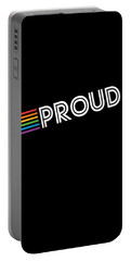 Portable Battery Charger featuring the digital art Rainbow Proud Lgbtq Gay Pride by Flippin Sweet Gear