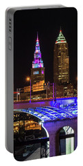 Rainbow Tower In Cleveland Portable Battery Charger