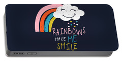 Rainbows Make Me Smile - Baby Room Nursery Art Poster Print Portable Battery Charger