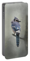 Rainy Day Blue Jay Portable Battery Charger
