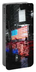 Rainy Days In Time Square  Portable Battery Charger