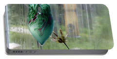 Rainy Morning At The Bird Feeder Portable Battery Charger