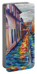 Rainy Pirate Alley Portable Battery Charger