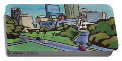 Raleigh Skyline Cartoon 16 X 20 Ratio Portable Battery Charger