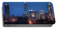 Raleigh Skyline Night Photo 16 X 20 Ratio Portable Battery Charger