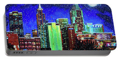 Raleigh Skyline Winter Night 16 X 20 Ratio Portable Battery Charger