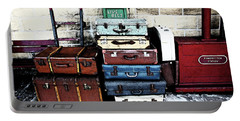 Ramsbottom.  Elr Railway Suitcases On The Platform. Portable Battery Charger