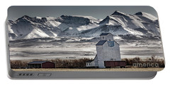 Portable Battery Charger featuring the photograph Ranchland Elevator by Brad Allen Fine Art