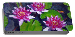 Rancho Water Lilies Portable Battery Charger