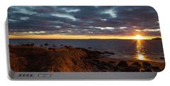 Randall Point Sunset At Barn Island - Stonington Ct Portable Battery Charger