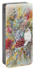 Rare White Sparrow - Portrait View. Portable Battery Charger