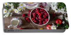 Raspberry Breakfast Portable Battery Charger