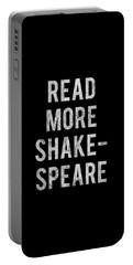 Portable Battery Charger featuring the digital art Read More Shakespeare Vintage by Flippin Sweet Gear