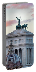Portable Battery Charger featuring the photograph Rear View Of The Altare Della Patria by Fabrizio Troiani