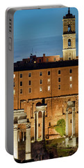 Portable Battery Charger featuring the photograph Rear View Of The Campidoglio by Fabrizio Troiani