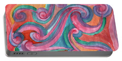 Portable Battery Charger featuring the painting Red Abstraction by Dobrotsvet Art